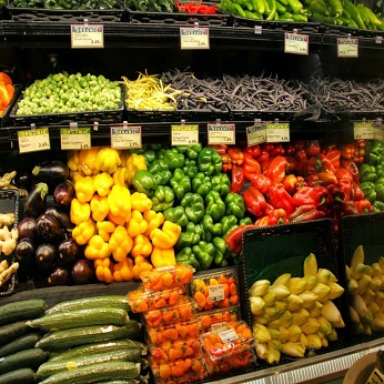 produce in the grocery