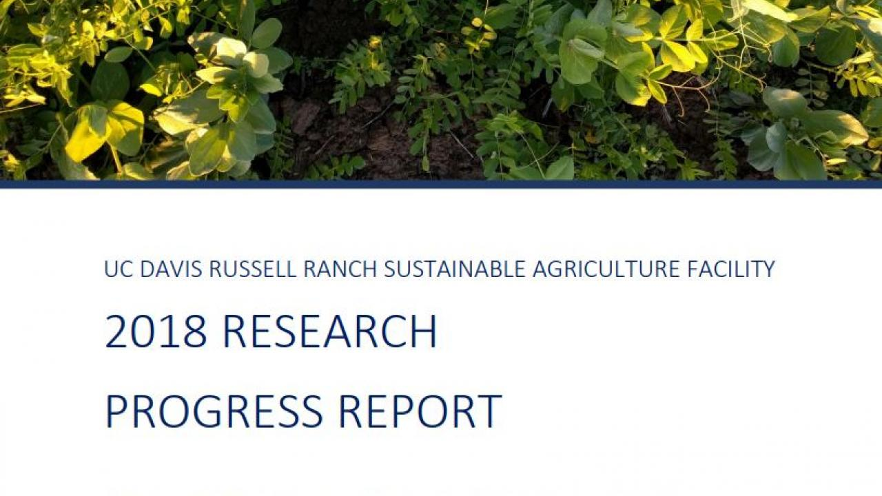 2018 Russell Ranch Progress Report