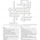 Student Farm Fall Crossword Puzzle
