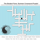 crossword puzzle for Student Farm Summer 2020 Newsletter