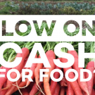 poster showing low on cash for food?