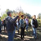eff Main shows Good Humus Produce to Yolo County workshop participants